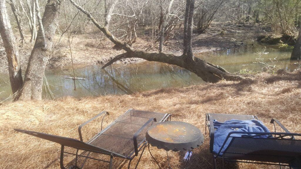 living in an rv on your own land with your own creek