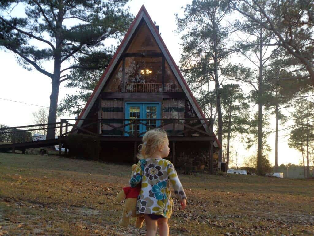 a-frame spa in the rv park