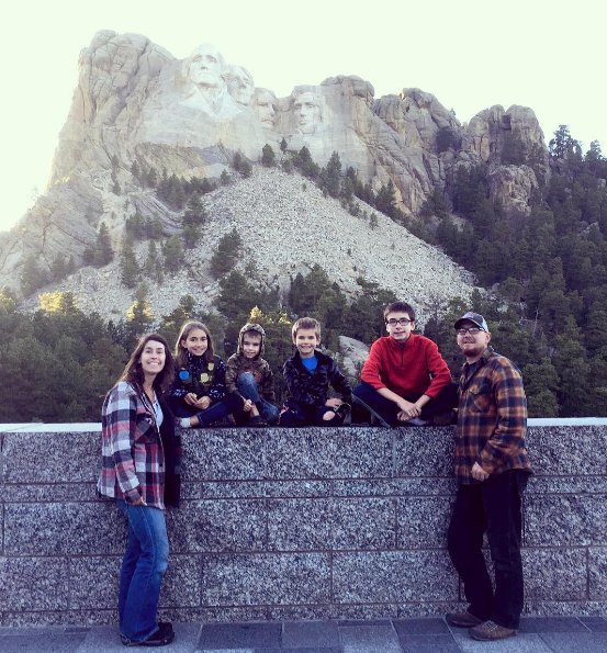 faith takes flight in front of mt rushmore