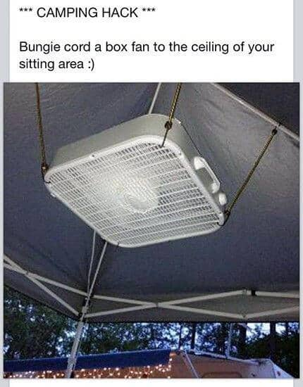 ceiling fan camping hack
