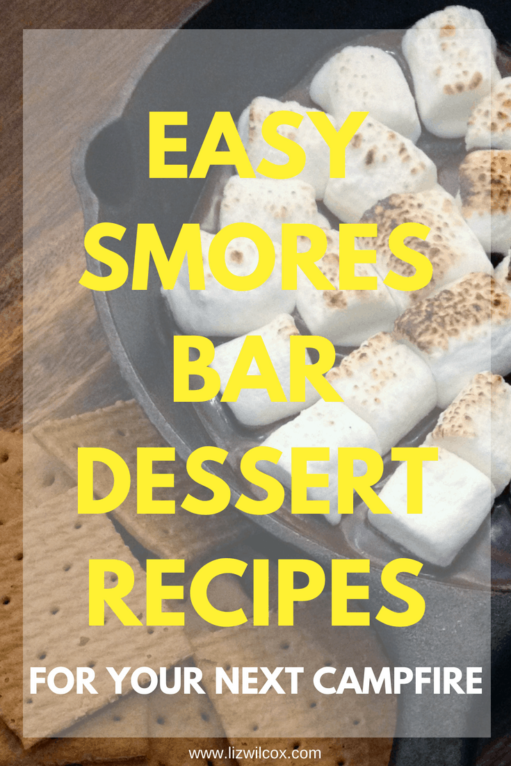 Easy Smores bar dessert recipes for your next campfire. These unique twists on an old favorite are sure to be your kids favorite camping treats this summer or fall! | https://thevirtualcampground.com