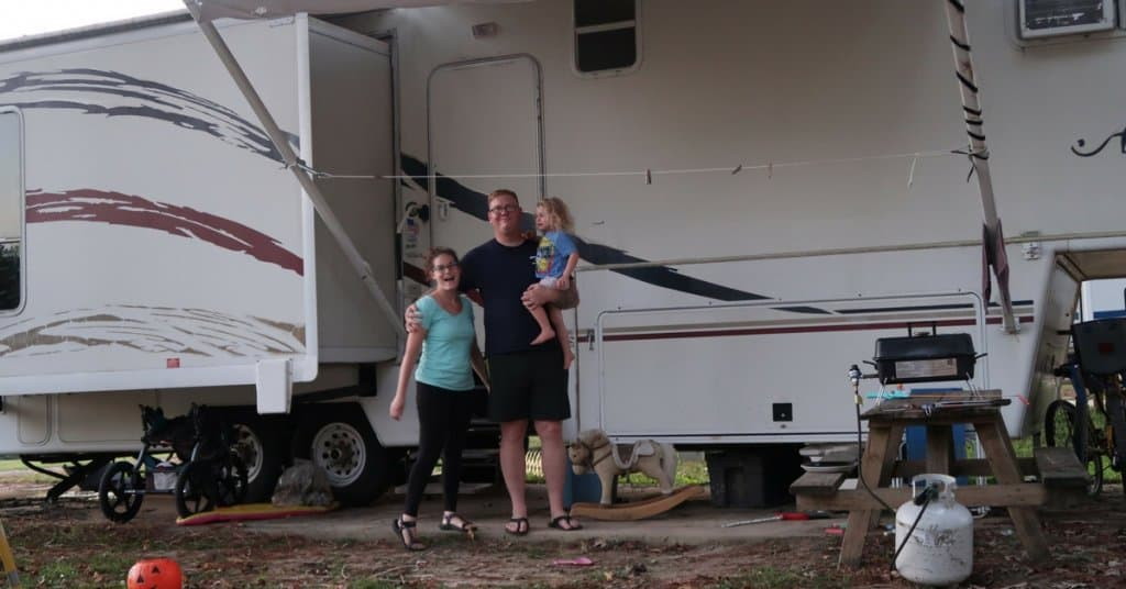 wilcox family travel in their 5th wheel