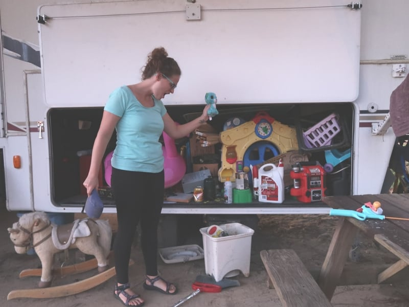 decluttering the rv