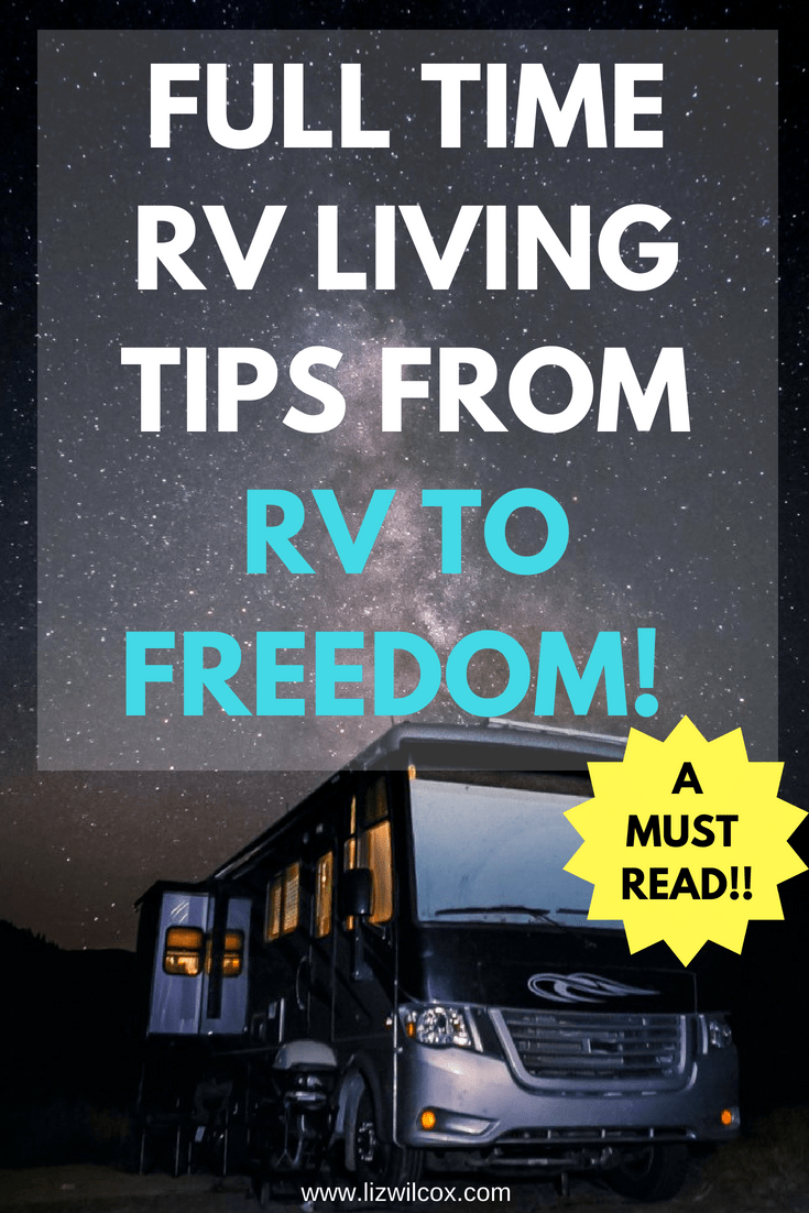 The best full time RV Living tips from Kerensa and Brandon of RV to Freedom during an interview with Liz Wilcox from The Virtual Campground. Learn which motorhome may be right for you, more about the RV lifestyle, tips for downsizing before hitting the road, and how to make money as a digital nomad. | www.thevirtualcampground.com