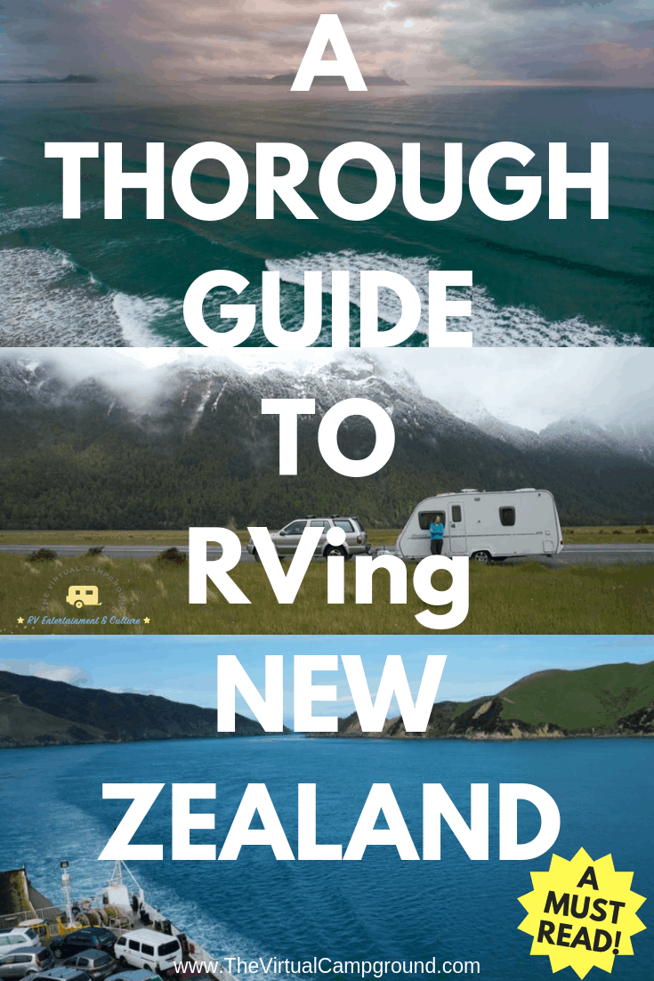 Are you planning to travel New Zealand in your RV or motorhome? Pack your camper van! This post gives you all the details you need to know for planning road trips for freedom camping. | www.TheVirtualCampground.com