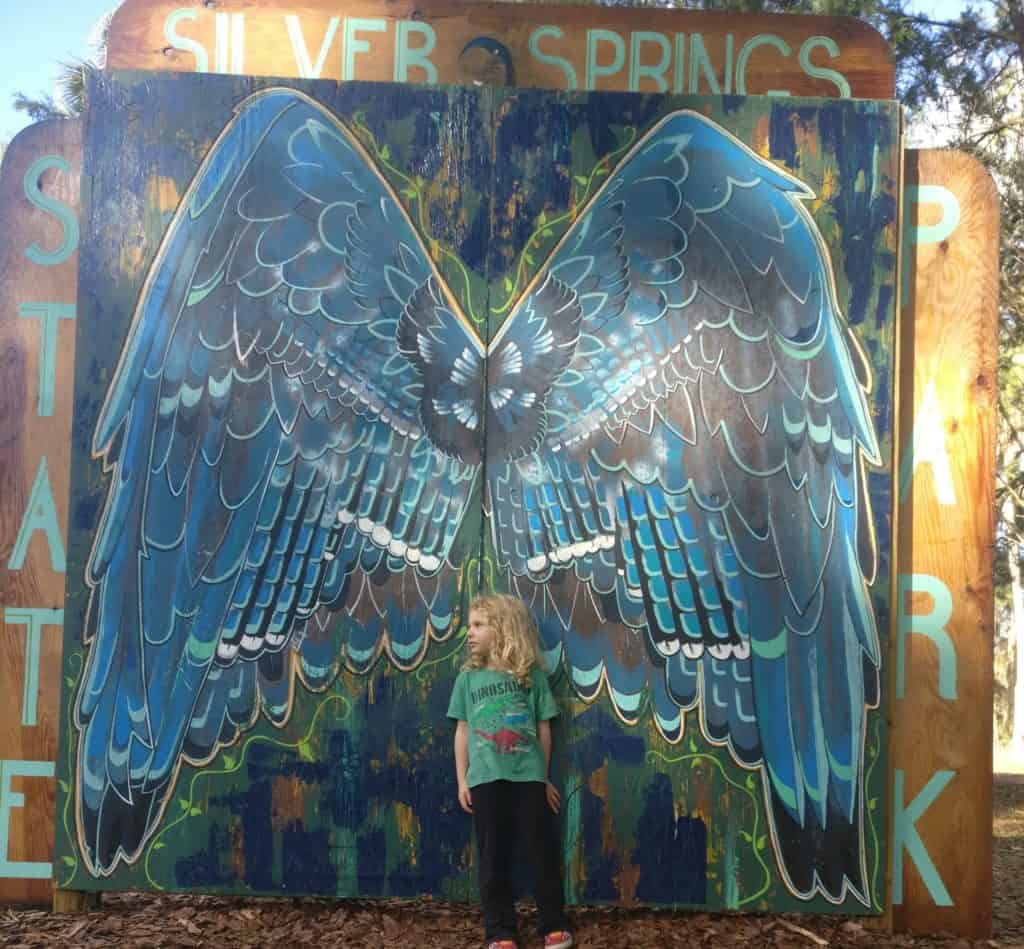 picture of Chelsea Wilcox at Silver Springs State Park while visiting in her RV