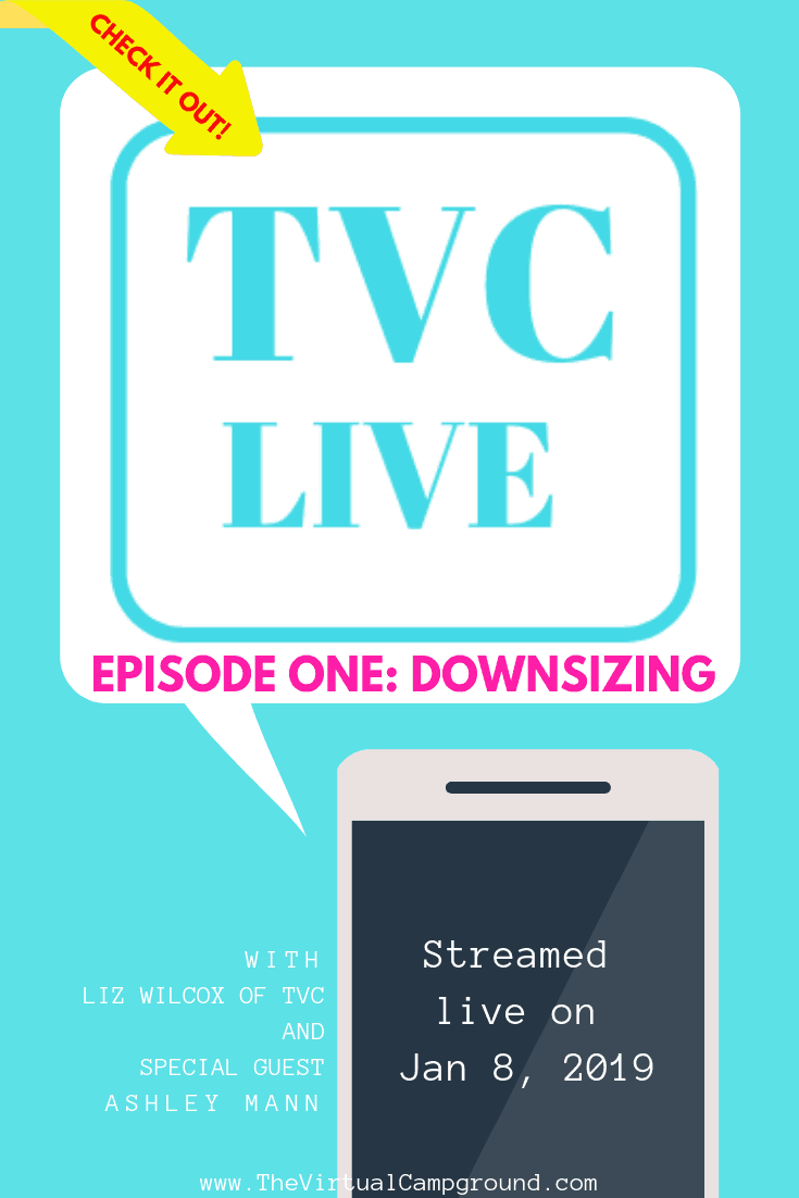 You've gotta check this out! This full-time RVing family has created a hilarious talk show full of hijinks and truly interesting and valuable tips for RV travel, living, and life on the road with kids and pets. Click to watch and listen to Episode One: Downsizing. | www.TheVirtualCampground.com #RVliving #downsizing #MinimalistLiving #RVlife #RVingwithkids #RVingwithpets #travel #RVtalkshow #RVpodcast #RVing