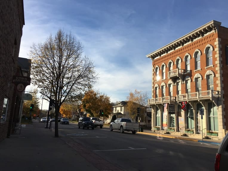 picture of downtown area in Decorah, Iowa an unexpected place to visit