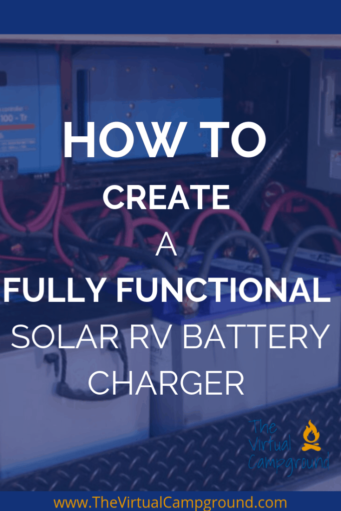 How to create a fully functional solar RV battery charger from start to finish. Learn a basic understanding of electricity, how to avoid wasting electricity when your RV runs on solar, how much solar do you actually need for your RV or motorhome, and how to DIY install a solar battery system with solar panels for your RV. If you are a full-time RV family or traveler, or if you love to boondocks in your RV this is a post you can't afford to miss!