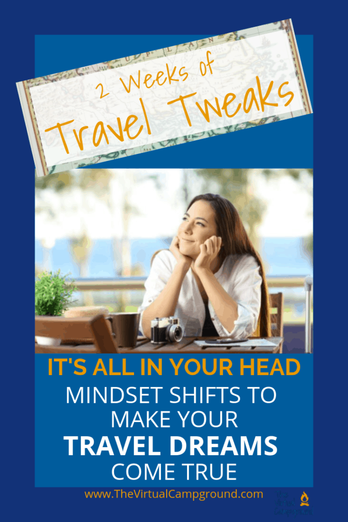 Everything holding you back from taking the plunge into a whole new lifestyle of traveling full-time is all in your head! With just a few simple mindset shifts you CAN make all of your travel dreams come true. Click to read the advice from a full-time RVing family and business owner.