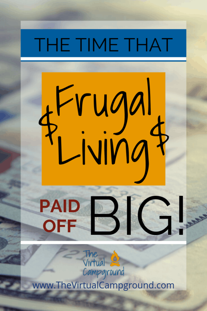 4 frugal failures and the story of a time that frugal living paid off BIG TIME! If you are looking for inspiration on saving money, RV living, or both combined then this post is for you! Travel while spending less and save money.