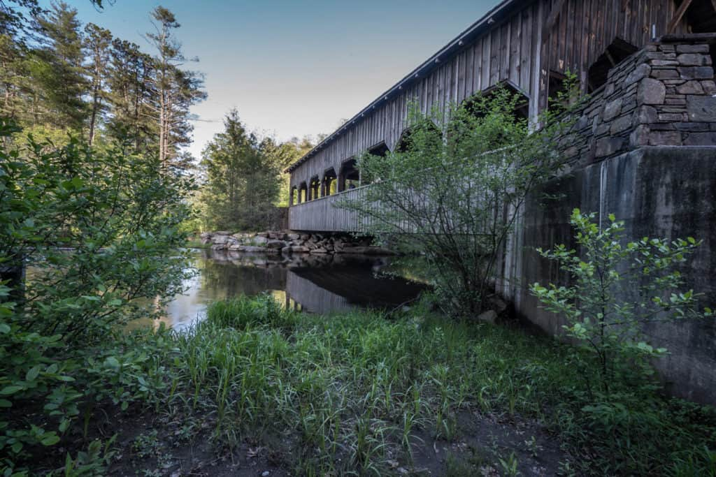Covered bridge in Dupont Forest