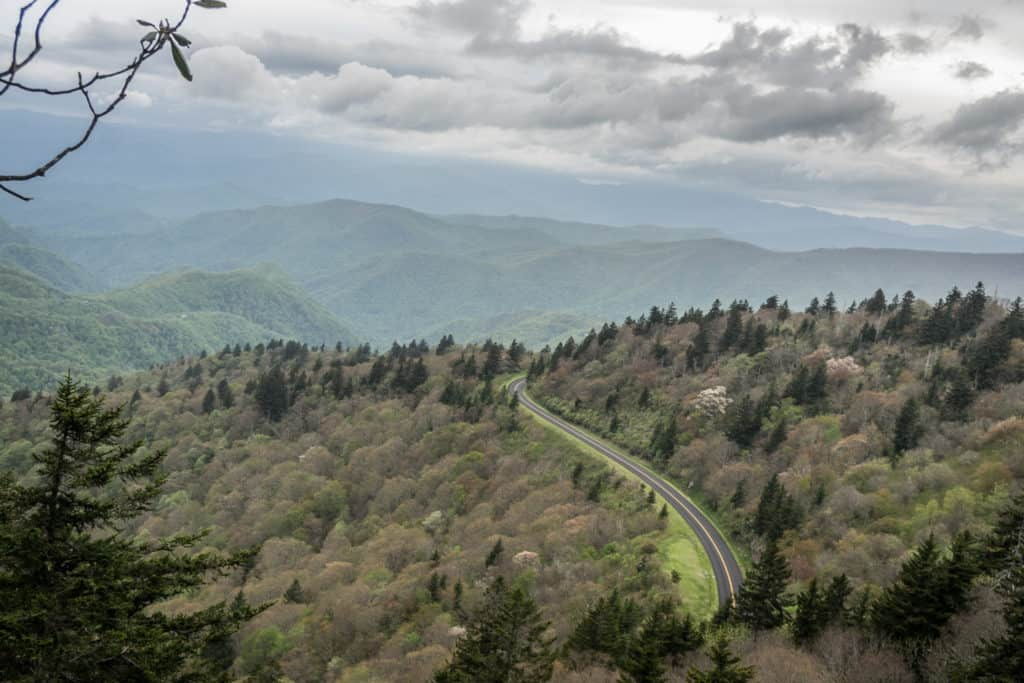 Blue Ridge Parkway in the Smoky Mountains