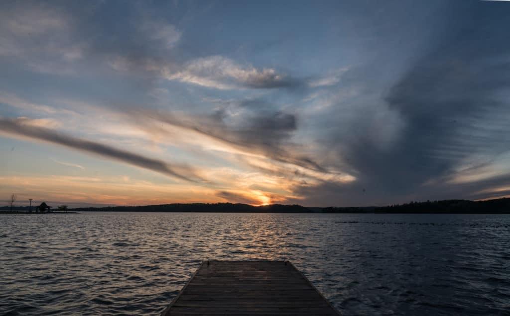 sunset over Lake Guntersville State Park