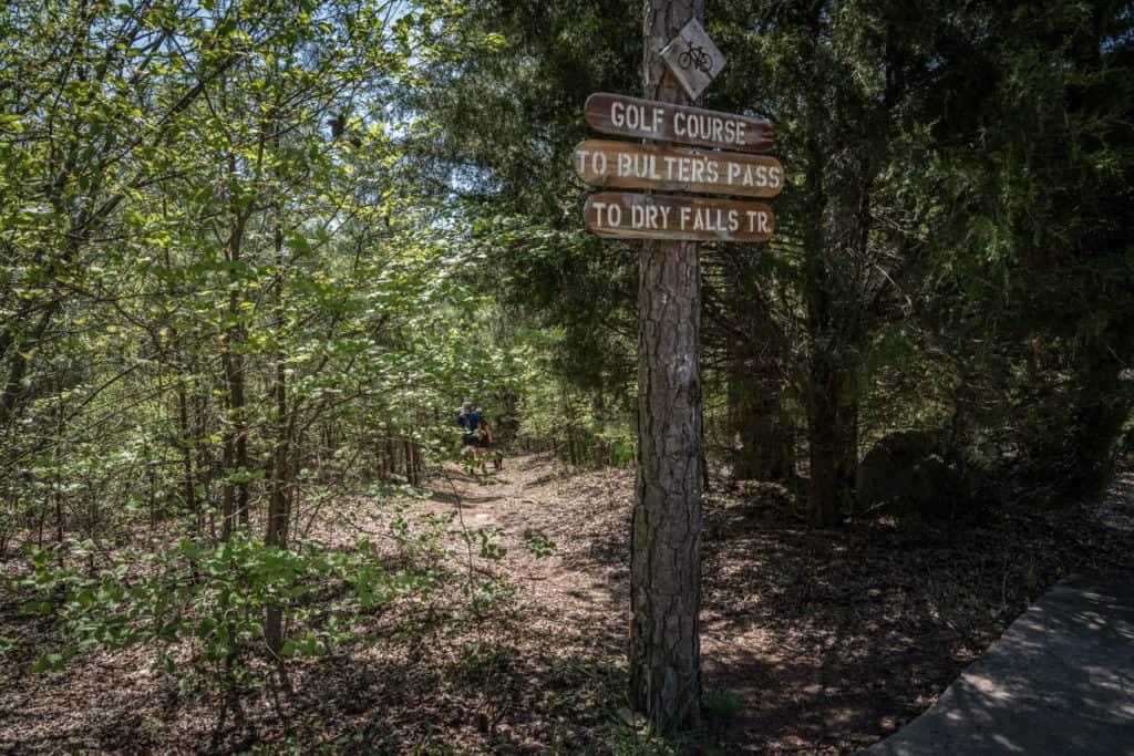 Signage on trail at Lake Guntersville State Park