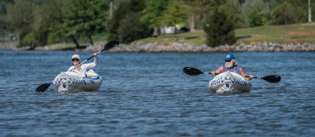 Kayakers on Lake Guntersville State Park