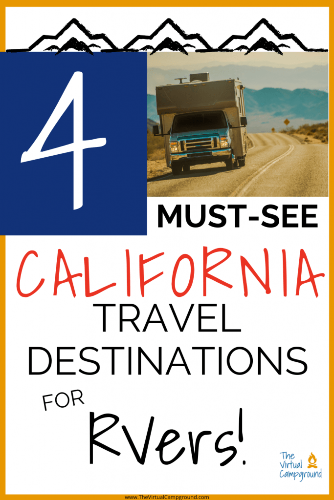 4 must-see California travel destinations for RVers on road trips! Read our best tips to plan your California vacation including ideas for traveling to Cali with kids.
