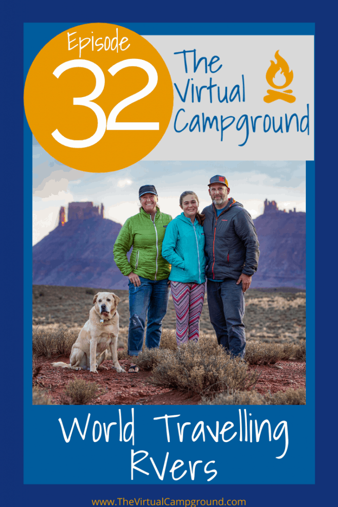 Join us for episode 32 of The Virtual Campground LIVE where we interview the Holcombe family also known as Famagogo. Kathy, Abby, and Peter have created a life of adventure and travel. In this episode they share all the tips and details of traveling through Europe after shipping their own Winnebago overseas to meet them there. Talk about a home away from home! You're not gonna want to miss this RV world tour story!