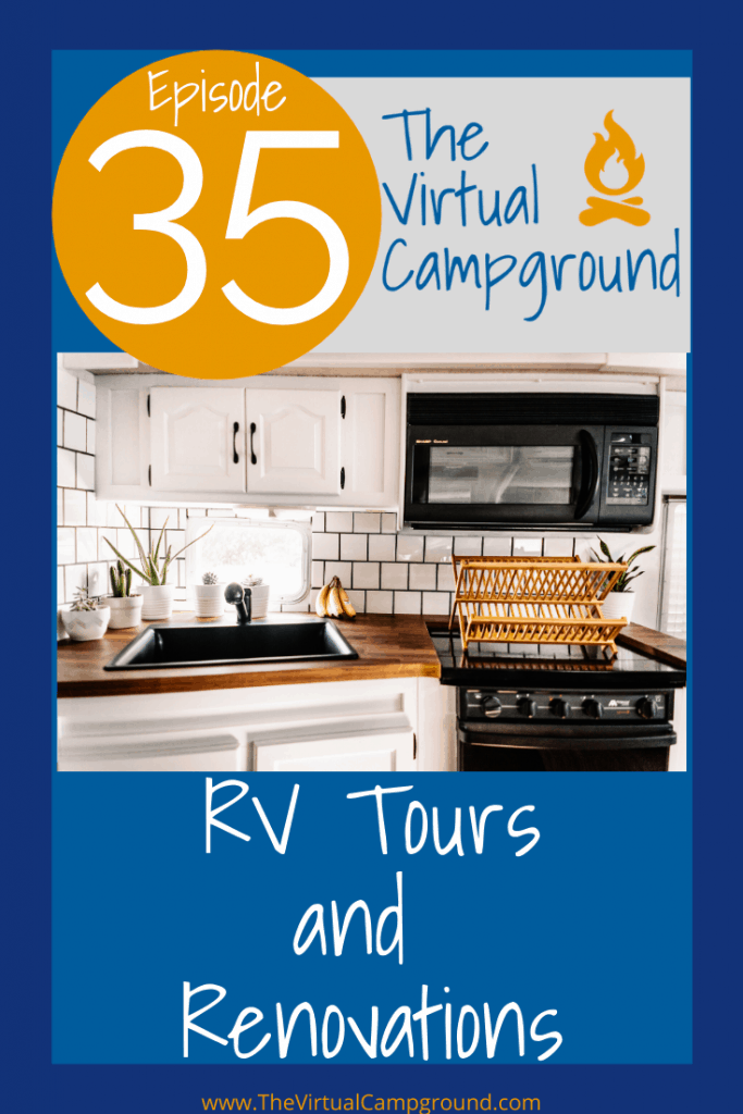 Join us for episode 35 of TVC Live where we share three camper rig tours and before and after photos that showcase full remodels to simple decoration ideas. Whether you own a toy hauler, motorhome, or trailer you'll love to soak up the RV renovation inspiration in these photos.