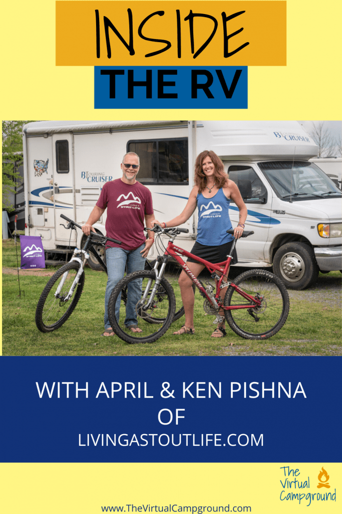 Join us for this installment of Inside the RV as we talk with April and Ken Pishna of Living A Stout Life. In this full-time RVing interview we learn about their rig and any renovations, how they downsized, their favorite destinations, and how they make money on the road to fund their full-time travels. Plus a LOT more! Don't miss it!