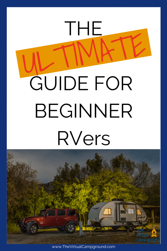 This must-read beginners guide for newbie RVers shares helpful tips about renting or purchasing your first RV, what to pack for campground stays, what NOT to pack, and campground etiquette.