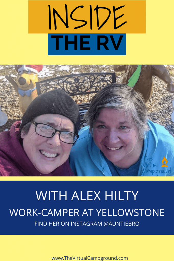 Join us for Inside the RV with Alex Hilty who workcamps full-time at Yellowstone National Park. Ever wanted to try workcamping to save money? This one's for you!